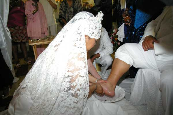 Foot washing ceremony